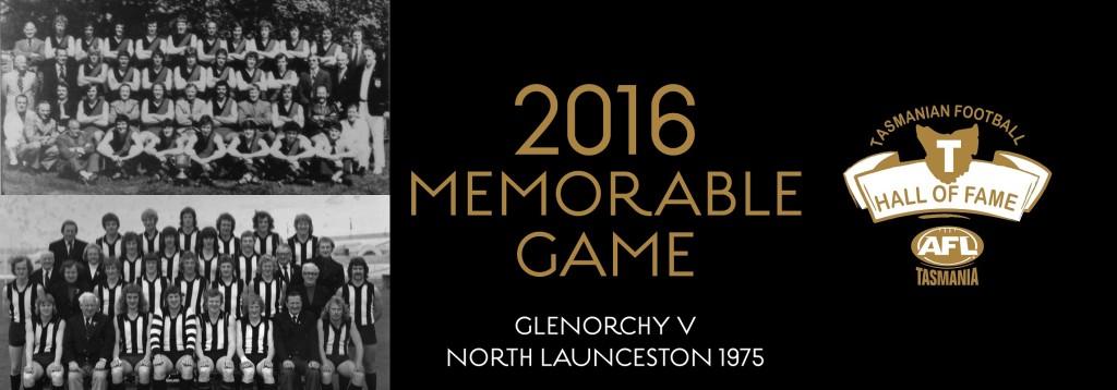 Web banner MEMORABLE GAME Glenorchy v North Launceston